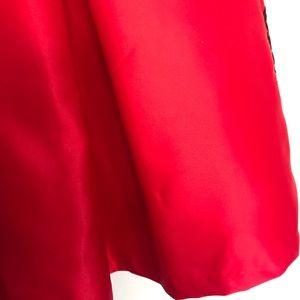 Rare Editions Dresses - RARE EDITIONS  RED BLACK FLORAL TEA-LENGTH DRESS